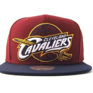 Men's Mitchell And Ness Cleveland Cavaliers Cap